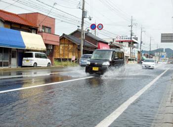 大雨で滋賀県長浜などで70棟が床下浸水!通行止めや速報をチェック